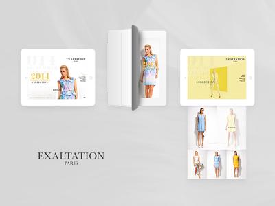 Exaltation spring summer fashion website design