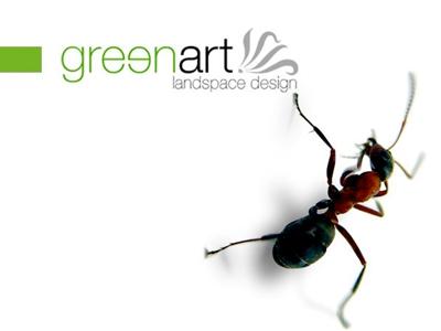 Greenart Logotype logotype logo identity art green landspace design