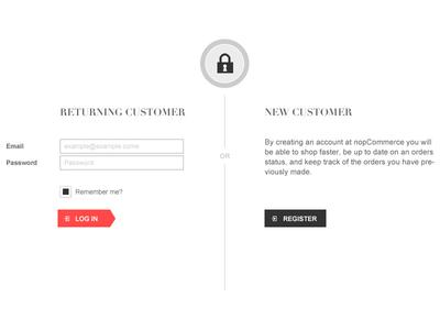 Login & Register login register ui user interface web design page returning new minimal
