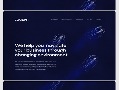 LUCENT jellyfish website identity logo branding
