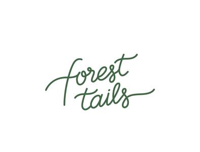 Forest Tails custom lettering lettermark logo