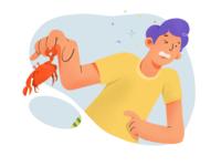 I hate crabs.