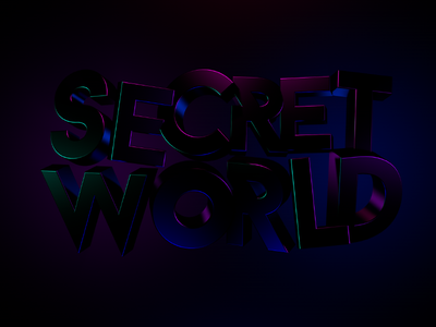 Secret World font letters typography lighting 80s neon 3d app iphone android ios game