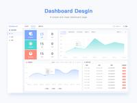 A simple dasboard page