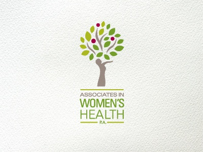 AWHPA logo health tree womens green logo leaves bird