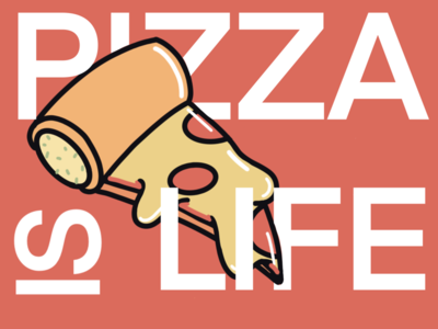 Pizza is life stickers life pizza illustration drawing ipad colour procreate