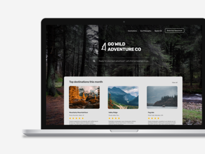Daily UI 003 - Landing Page Design - GO WILD ADVENTURE CO.