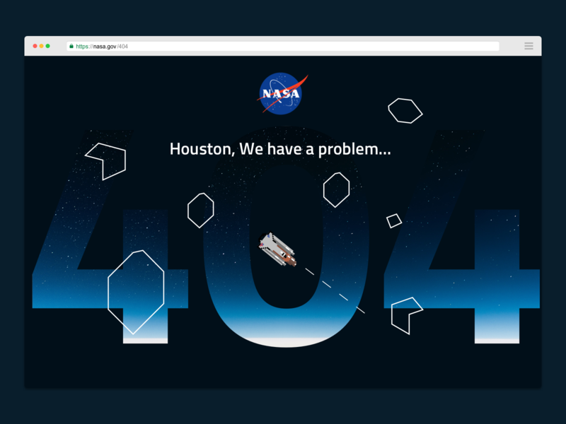 DAILYUI 008 - 404 Page - NASA x Asteroids design 404 gaming asteroids uiux uidesign colour pixel nasa concept uidaily ui