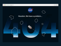 DAILYUI 008 - 404 Page - NASA x Asteroids