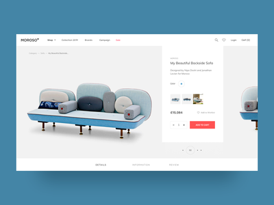 E-commerce Furniture Website product slider store ux product page e-commerce template magenta ui