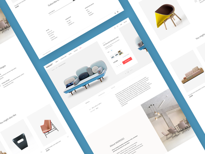 Ecommerce Store Product Page magento 2 magento stores website design product card layout product detail landing brand furniture product slider store ux product page e-commerce template ui