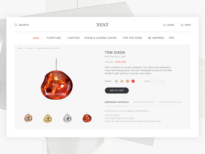 Product Detail ux web ui web page e-commerce shop product detail page