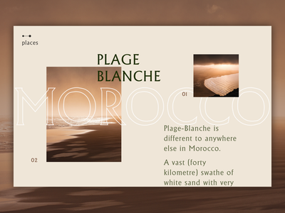 Places Article Page layout article font page design ui