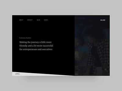Skube Website Concept hover web timeline video banner homepage landing branding illustrations consulting marketing enterprise interaction motion animation ui ux website productdesign