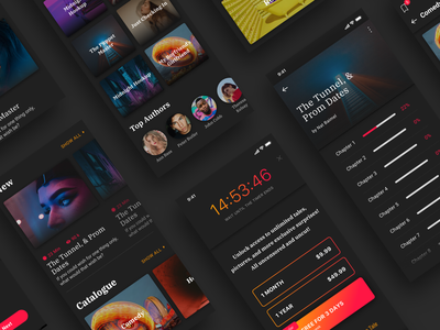 Tale App Screens hybrid hybridapp redesign subscription premium story profile feed android ios reactnative interaction motion app animation ui ux mobile tales