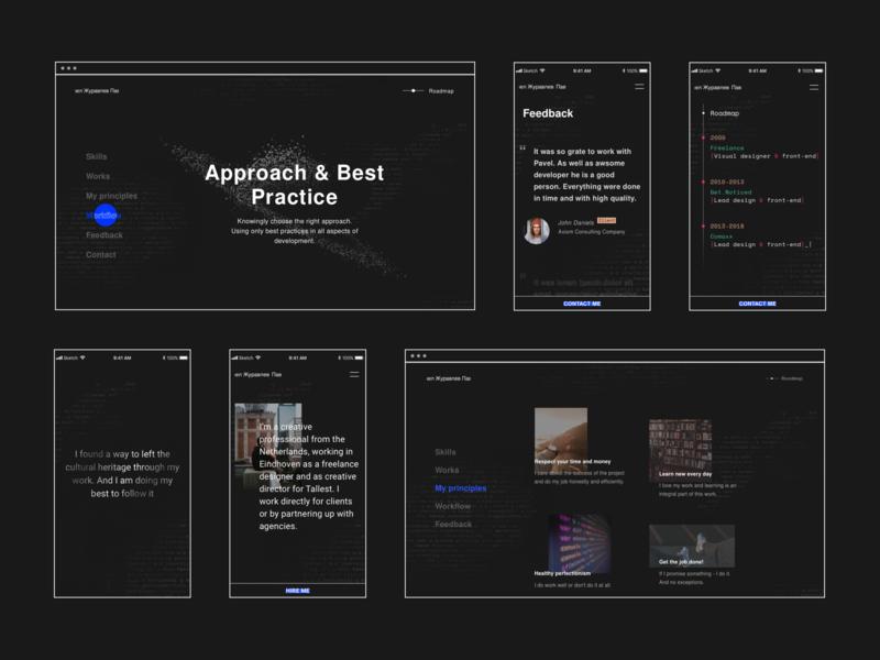 Web developer Website cv processes resume web developer front-end testimonials github graphics animation roadmap website ui presentation workflow menu software developer interaction homepage design banner