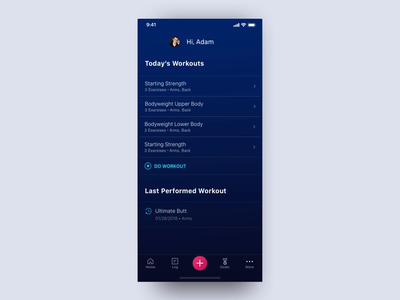 Stacked Concept timer gym after effect motion animation trainer training ux ui icons android ios tabbar exercise routine workout mobile fitness netrix app