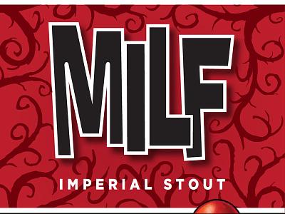 Mbc Milf Label01 packaging typography beer brewery craft beer