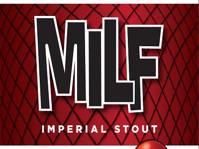 Mbc Milf Label02 packaging typography beer brewery craft beer