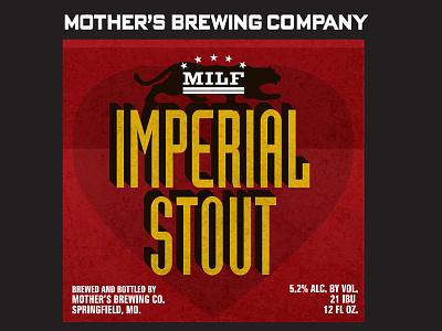 Mbc Milf Label03 packaging typography beer brewery craft beer