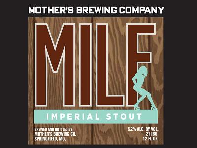 Mbc Milf Label04 packaging typography beer brewery craft beer