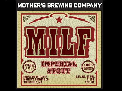 Mbc Milf Label05 packaging typography beer brewery craft beer