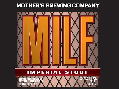 Mbc Milf Label06 packaging typography beer brewery craft beer