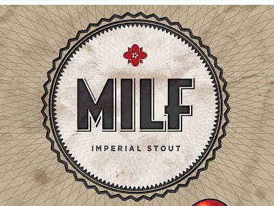 Mbc Milf Label07 packaging typography beer brewery craft beer