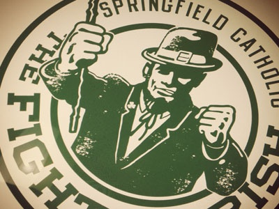 Springfield Catholic Schools logo leprechaun fighting irish springfield catholic schools kick ass mascot