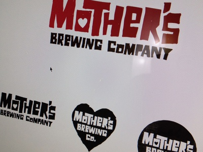 Mother's Logo Exploration 03 logo craft beer brewery typography