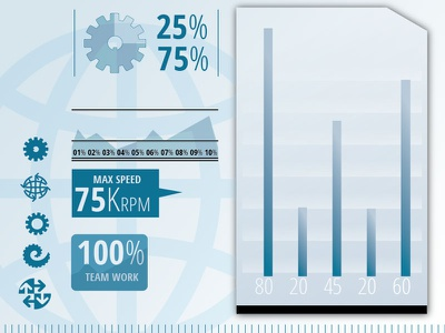Infographics Examples info graphics engineering charts graphs icons