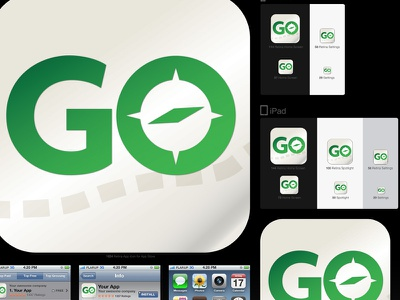 Go Hiking Trail App Icon outdoors camping hiking app icon