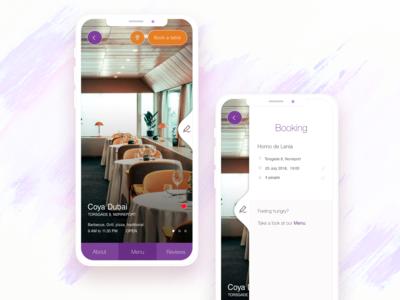 6awla   Mobile app concept for restaurant reservations