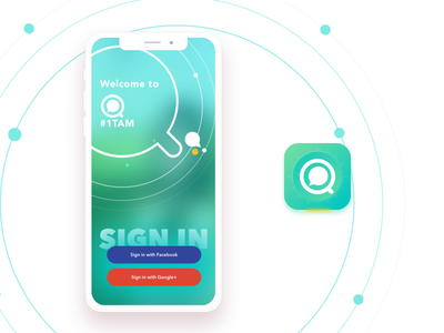 1Tam | App icon & Login Screen concept icon videos world individuals like minded connect opinions express users vlogging hearts profile pink design app ui ux social app