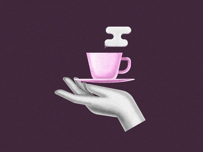 A cup of coffee, please. geometric noise vector coffee magic hand