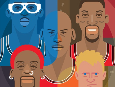 The Last Dance art popart culture pop chicago 1990s illustration espn sports basketball nba chicago bulls michael jordan