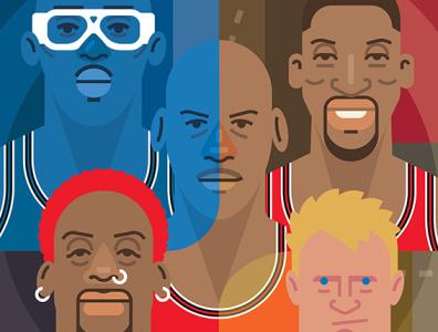 The Last Dance art popart culture pop chicago 1990s illustration espn sports basketball nba chicago bulls michael jordan