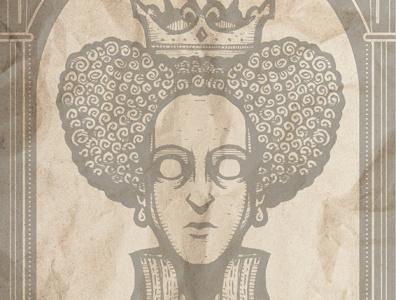 DEAD KINGS: Elizabeth I queens kings room dorm poster tourism travel london renaissance shakespeare england history english tudors
