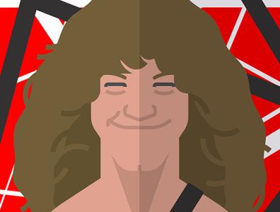 Eddie Van Halen retro music art poster celebrity losangeles entertainment music rock and roll rock 80s 1980s