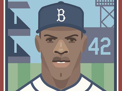 Jackie Robinson black history poster california new york los angeles brooklyn america baseball history sports