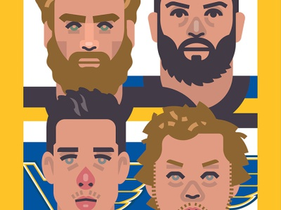 St. Louis Blues 2019 Championship design character illustration poster athlete famous champion stanley cup st louis canada sports hockey