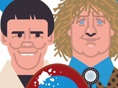 Dumb and Dumber gift illustration tv 90s retro comedian classic famous funny comedy film movie poster