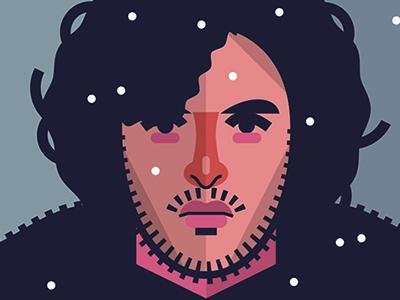 Jon Snow fire ice vector print poster movies film tv thrones game