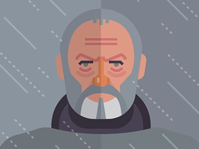 Ser Davos fire ice vector print poster movies film tv thrones game