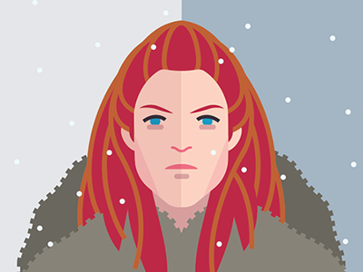 Ygritte fire ice vector print poster movies film tv thrones game