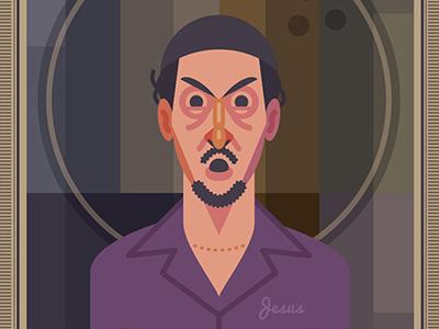 Jesus Quintana dude rug bowling sports pop illustration movie film big lebowski