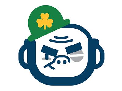 Fightin' Irish patrick patricks st madness march basketball football college irish fighting dame notre