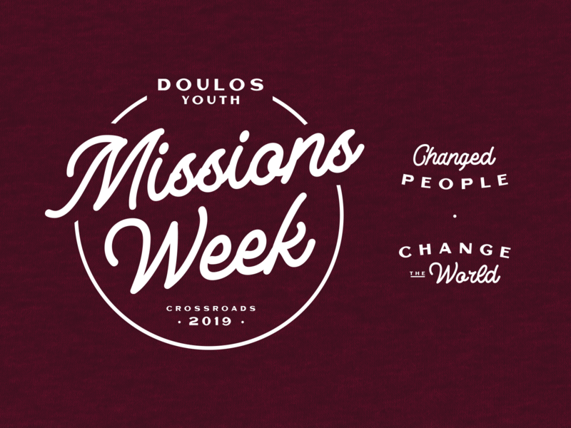 Missions Week 2019 vector shirt ministry church typography