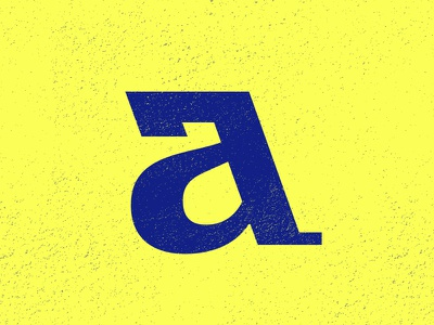 'A' letter typography typehue