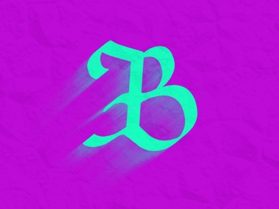 B by Jeffrey Herrera via dribbble
